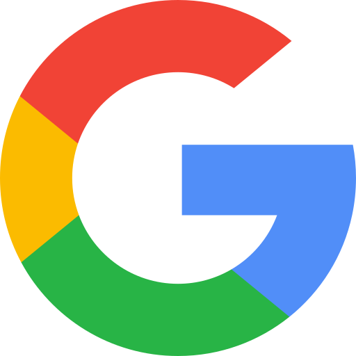 google icon in red, yellow, green, and blue.